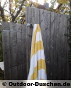 Outdoor Dusche: Sichtschutz